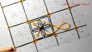 Japanese Sashiko Embroidery Tutorial By Miss Anjiara Begum,Secrets Of Embroidery-53, #StayHome