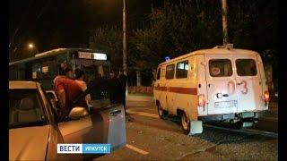 """Ещё одно ДТП с пассажирским автобусом произошло в Иркутске, """"Вести-Иркутск"""""""