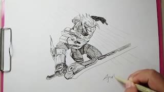 Menggambar Saber Hero Mobile Legends मफत ऑनलइन