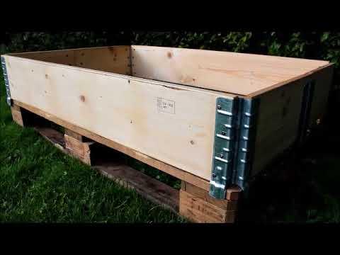Hochbeet Holz Palettenmöbel Gemüseanbau ganz einfach und günstig selbst gebaut!