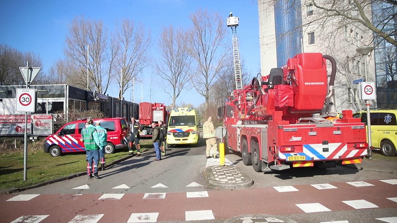 01-03-21 Alweer grote brand in wooncomplex, Heuvellaan (Gouda)
