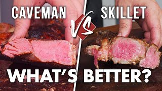 How to Cook a TOMAHAWK STEAK - Caveman Steak vs Cast Iron Skillet