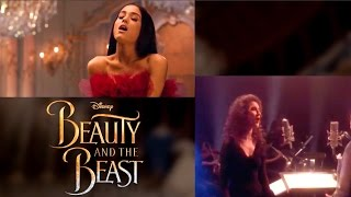 """""""Beauty and the Beast"""" Song- Music Video Comparison 1991 vs 2017 (Animated vs Live Action)"""