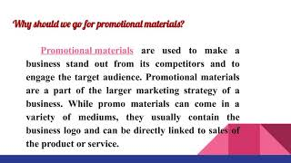 Promotional Materials Jonesboro, AR - Custom Promotional Products