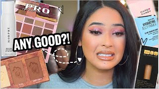 FULL FACE TESTING HOT NEW MAKEUP 2020 : FIRST IMPRESSIONS + WEAR TEST ! Drugstore & Highend ♡