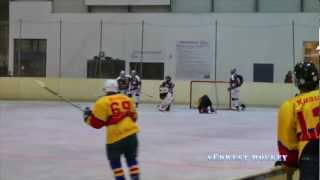 preview picture of video 'CfR Blue Gold Stars Pforzheim vs. EHC Eisbären Heilbronn 28.09.2012'