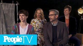 Timothee Chalamet Freaked Out About Working With Steve Carell & Amy Ryan   TIFF 2018   PeopleTV