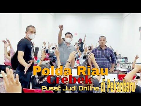 VIDEO: Polda Riau Gerebek Pusat Judi Online di Pekanbaru