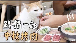 【黃阿瑪的後宮生活】跟貓一起中秋烤肉!