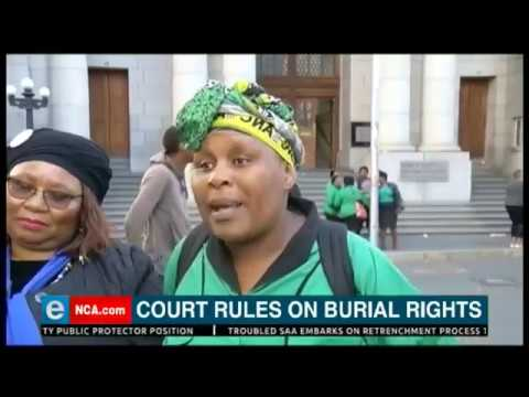 Court rules on burial rights