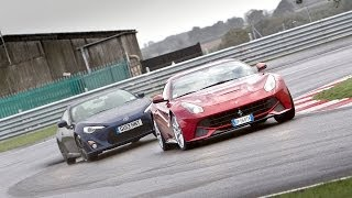 [Autocar] Ferrari F12 Berlinetta vs Toyota GT86 - which is more fun?