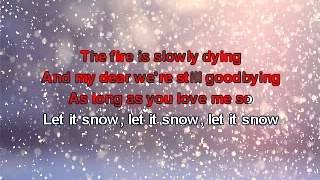 Karaoke - Frank Sinatra - Let it Snow (by 212) .avi