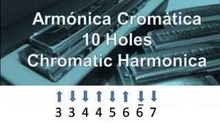 How to Play Chromatic Harmonica. Scale 10 Holes. Part 1