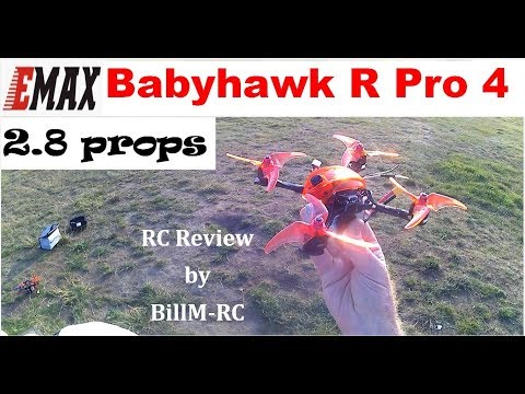 Emax Babyhawk R Pro 4 review - 2.8 pitch prop test