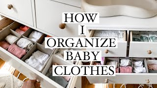How I Organize Baby Clothes & Changing Table! 2020 (Ikea Hemnes Dresser)