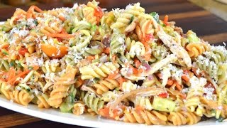 Chicken & Vegetable Pasta Salad Recipe  Cooking With Carolyn