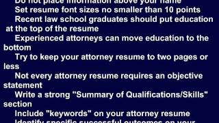 ATTORNEY RESUME TIPS, THE SURE WAY TO GETTING HIRED