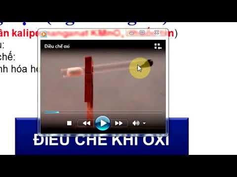Hóa học 8- Điều chế khí oxi, phản ứng phân hủy