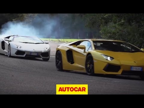 Lamborghini Aventador challenge 3: the drag race