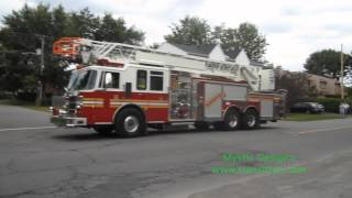 preview picture of video 'Chateauguay Fire Truck #4020 Pierce-Aerial Pompier Caserne 20'