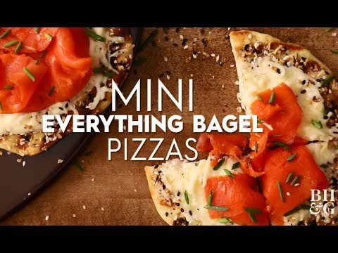 Mini Everything Bagel Pizzas | Eat This Now | Better Homes & Gardens