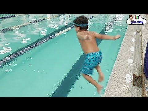 Kid swimming in the pool   kids Fun Pack Pool Time   Kids swimming lessons   Jai Bista Show