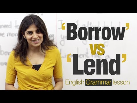 Borrow vs Lend (Niharika) – English grammar