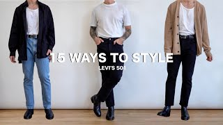 15 Ways To Style Levis 501 Jeans | Mens Fashion