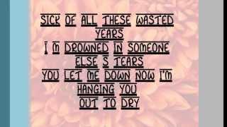 Maroon 5 - Wasted Years (Lyrics)