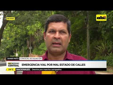 Emergencia vial en Asunción por mal estado de las calles