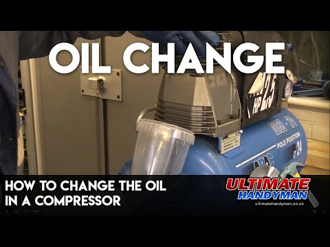 How to change the oil in a compressor