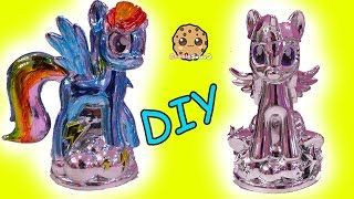 Chromies Ponies Fail ! My Little Pony DIY Metallic Craft Kit Rainbow Dash + Twilight