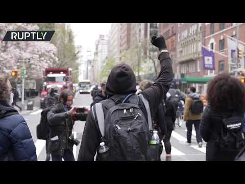 Dozens rally to demand justice over Daunte Wright shooting in NYC