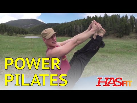 18 Minute Power Pilates Workout Routine w/ Sean Vigue – HASfit Pilates Exercises
