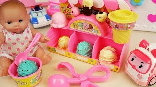 Baby Doll Ice Cream Shop And Poli Car Toys Baby Doli Play