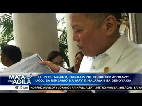 Aquino on NBI complaint filed vs him, several others: There was lack of due process in the filing