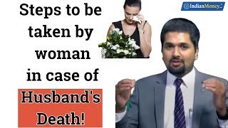 Steps to be taken by woman in case of Husband's Death | Money Doctor Show English | EP 180