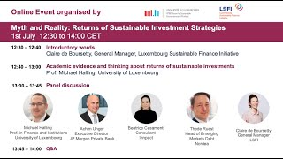 Myth and Reality: Returns of Sustainable Investment Strategies