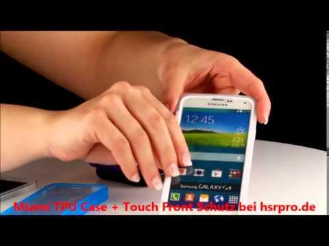 HSRpro Miami TPU Back Cover mit Touch Front Schutz für Samsung S5 Handytasche