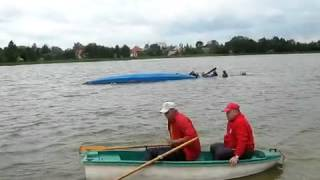 Highly trained rescuers rush to save sunken canoeists