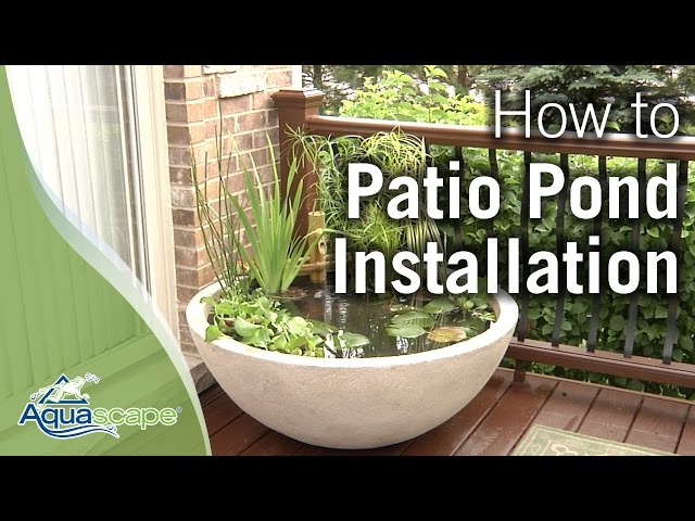 How To Create an Easy Container Water Feature with Aquascape's Patio Pond