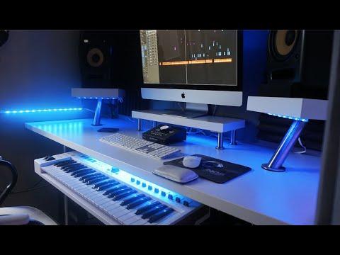 CUSTOM STUDIO DESK HACK | How To Build A Custom Studio Desk