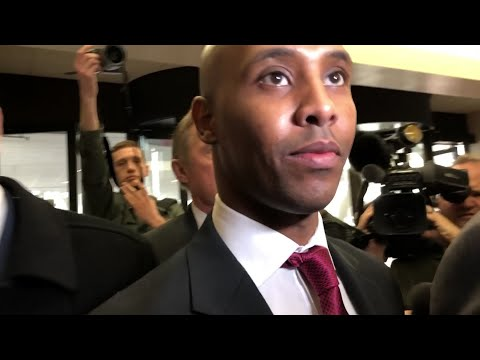 A former Minneapolis police officer on trial in the fatal 2017 shooting of an unarmed Australian woman had nothing to say as he entered a courthouse. Mohamed Noor faces murder and manslaughter charges in the death of Justine Ruszczyk Damond. (April 1)