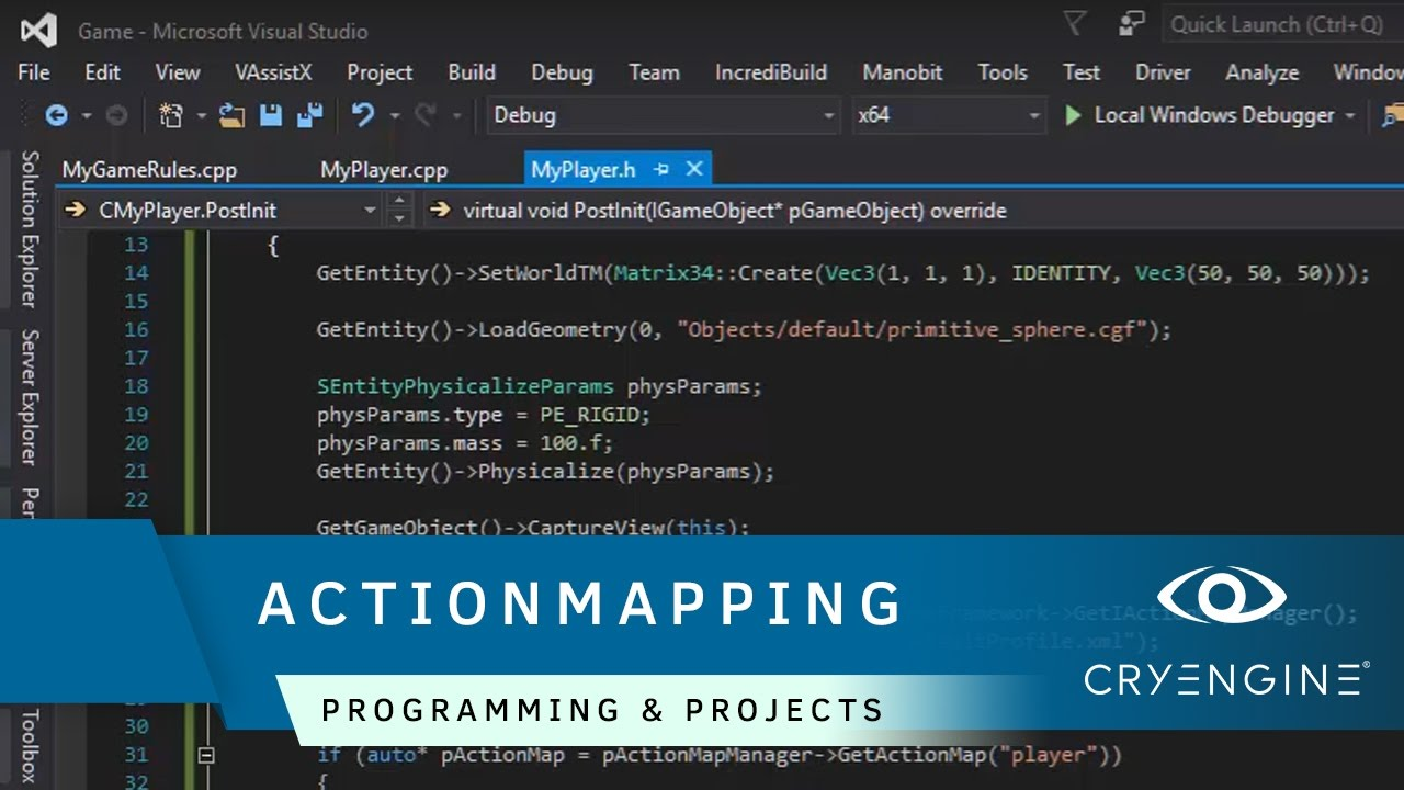 How to assign Game Inputs through Actionmapping | Programming & Projects