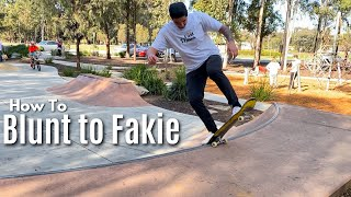 How to BLUNT TO FAKIE (In Depth Tutorial)
