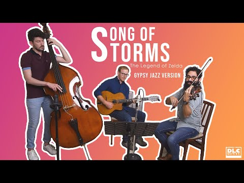 "My gypsy jazz band covering ""Song of Storms"" from The Legend of Zelda! Check out that bass solo!"