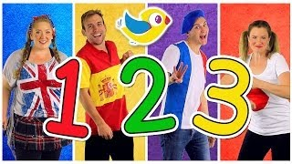 """""""Counting to 10"""" Song in Four Languages! Kids Learn to Count 1 to 10. Numbers Song, Kids Songs"""