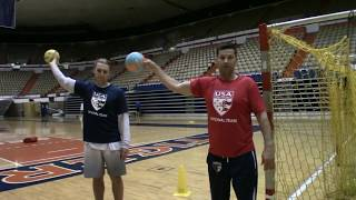 How to throw a Handball