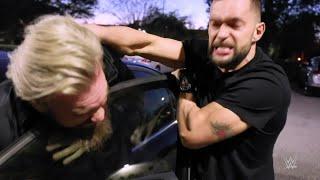 Finn Bálor jumps Trent Seven in a parking lot
