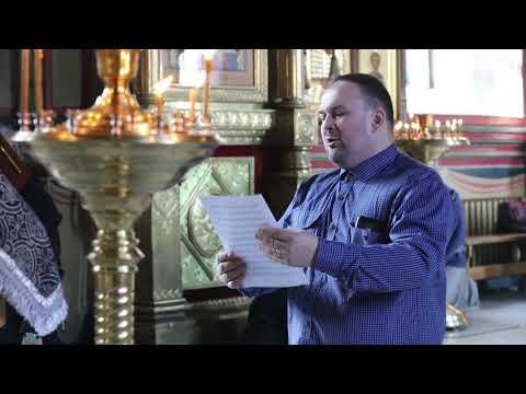 Регент архиерейского мужского хора Геннадий Горохов исполнил «Да исправится молитва моя...»